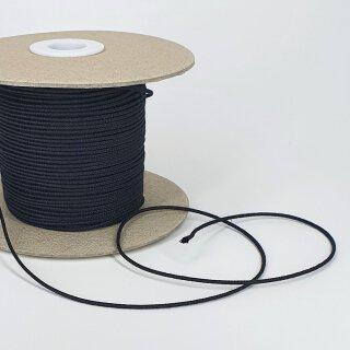 Bio Kordel Passepoil - 1,5 mm - unelastisch - schwarz