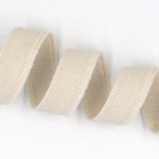 Bio Doppelflauschband - 20 mm - ecru