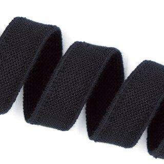 Bio Doppelflauschband - 20 mm - schwarz