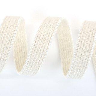 Bio Einziehgummiband - 9,5 mm - ecru - leicht