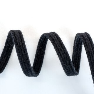 Bio Einziehgummiband - 6 mm - schwarz