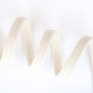 Bio Einziehgummiband - 6 mm - ecru - 180