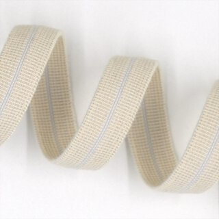 Organic elastic - edge binding - 15 mm - ecru