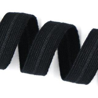 Organic elastic - edge binding - 15 mm - black