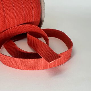 Organic elastic - 18 mm - red - strong