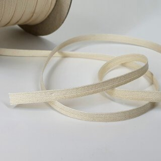 Organic ribbon - 6 mm - inelastic - ecru