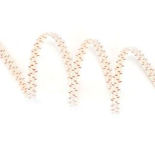 Organic elastic - 5.0 mm - ecru/red thread