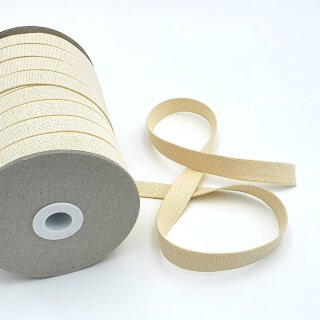 Organic elastic - 18 mm - ecru - strong