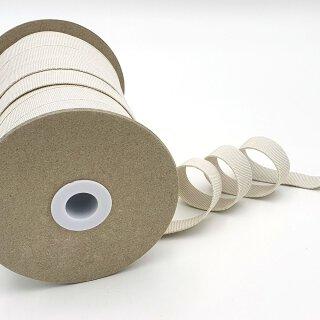 Organic elastic - 18 mm - ecru - strongly - transverse stability