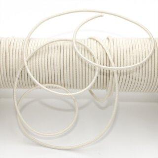 Bio Gummischnur - 2,2 mm - ecru