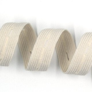 Organic button hole elastic - 18 mm - ecru
