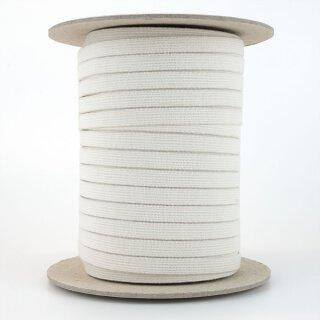 Organic elastic - 9,5 mm - ecru - strong