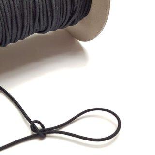 Organic elastic cord - 2.2 mm - black