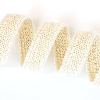 Organic double fleece elastics - 11 mm - ecru