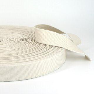 Organic elastic - 28 mm - ecru