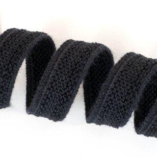 Organic double fleece elastics - 11 mm - black