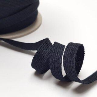 Bio Einziehgummiband - 9,5 mm - schwarz - leicht