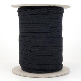 Bio Einziehgummiband - 9,5 mm - schwarz - stark