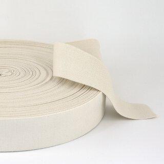 Bio Einziehgummiband - 40 mm - ecru - leicht