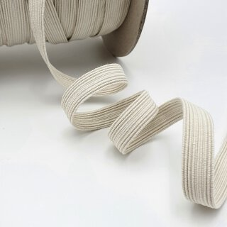 Organic elastic - 13 mm - ecru