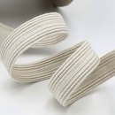 Bio Einziehgummiband - 13 mm - ecru