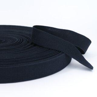 Bio Einziehgummiband - 28 mm - schwarz