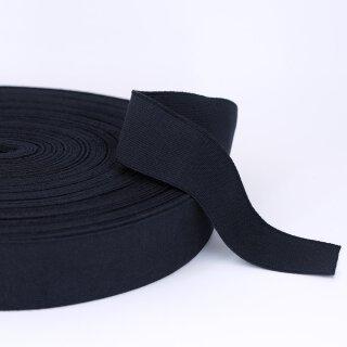 Bio Einziehgummiband - 40 mm - schwarz - leicht